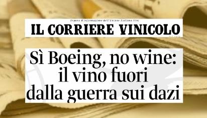 Sì Boeing, no wine: il vino fuori dalla guerra sui dazi