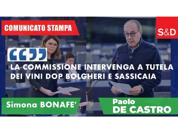 De Castro - Bonafè: La commissione intervenga a tutela dei vini DOP Bolgheri e Sassicaia
