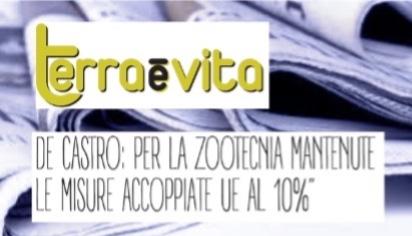 De Castro: per la zootecnia mantenute le misure accoppiate UE al 10%