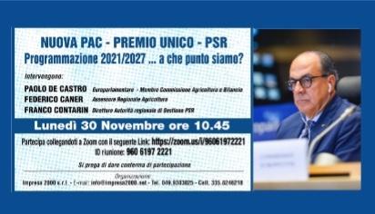Nuova PAC - premio unico - PSR Programmazione 2021-27 ... a che punto siamo?