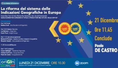 La riforma del sistema delle Indicazioni Geografiche in Europa