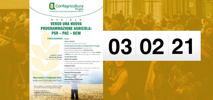 Verso una nuova programmazione agricola: PSR - PAC - OCM
