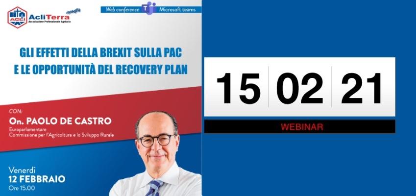 Gli effetti della Brexit sulla PAC e le opportunità del Recovery Plan