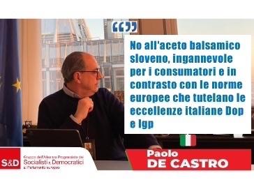 De Castro-Gualmini: no all'aceto sloveno ingannevole per i consumatori