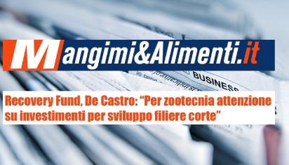 """Recovery Fund, De Castro: """"Per zootecnia attenzione su investimenti per sviluppo filiere corte"""""""