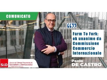 De Castro: Commissione INTA si dimostra a fianco produttori UE