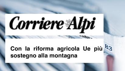 Con la riforma agricola Ue più sostegno alla montagna