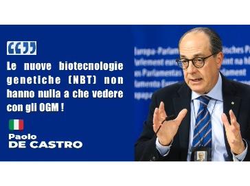 De Castro: serve approvazione rapida per nuove biotecnologie in agricoltura