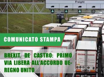Brexit, De Castro: Primo via libera all'accordo UE-Regno Unito