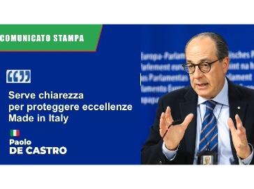 Vini dealcolati, De Castro: non siano cavallo di troia contro consumatori UE