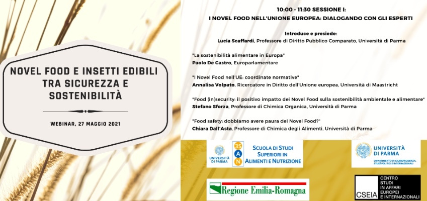 Novel food e insetti edible tra sicurezza e sostenibilità