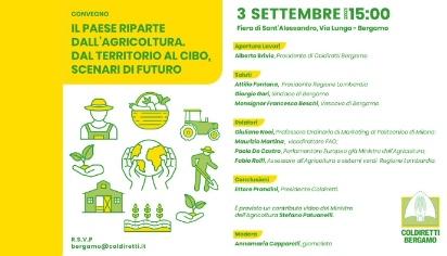 Il paese riparte dall'agricoltura. Dal territorio al cibo, scenari di futuro